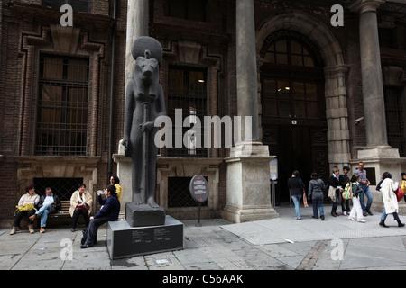 Egyptian Museum, Turin, Italy, Europe - Stock Photo