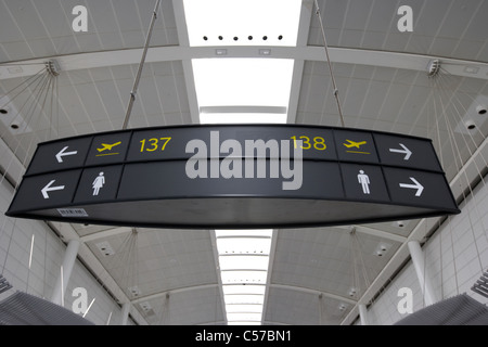 Signs For Departure Gates In American Airlines Terminal 8