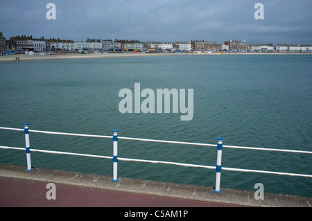 The seafront and beach in Weymouth, Dorset, UK. - Stock Photo