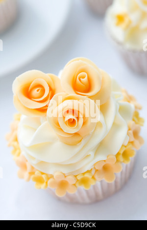 Wedding cupcake - Stock Photo