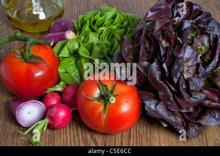 composition of summer vegetable - Stock Photo