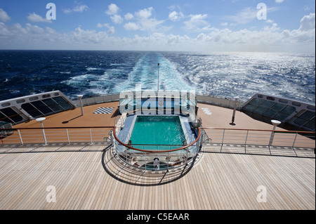 Passengers on stern at a cruise ship stock photo royalty - Queen mary swimming pool victoria ...