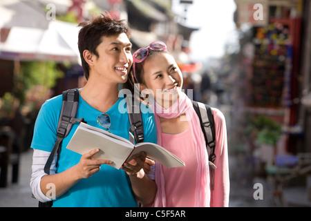 Young Couple Exploring Dali - Stockfoto