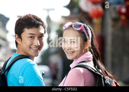 Young Couple Off Exploring, Dali - Stockfoto