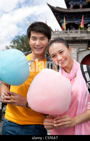 Young Couple with Cotton Candy, Dali - Stockfoto