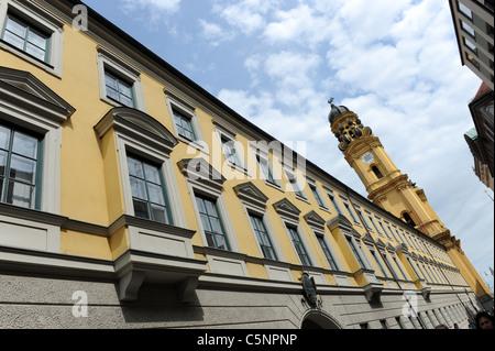 Theatinerkirche Munich Bavaria Germany Munchen Deutschland - Stockfoto