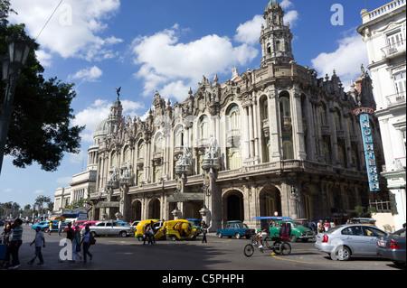 The Great Theatre of Havana (Gran Teatro de La Habana), Palacio del Centro Gallego, Havana, Cuba - Stock Photo