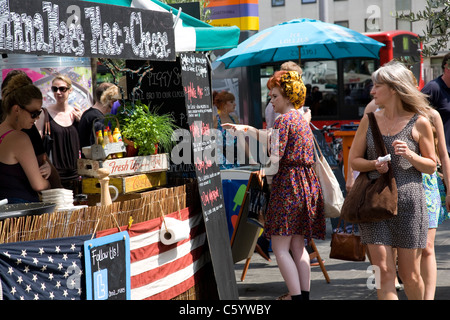 Stall at Food Festival on South Bank - Stock Photo