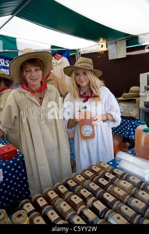 Burrow Hill Farm Cider stall at Food Festival - Stock Photo