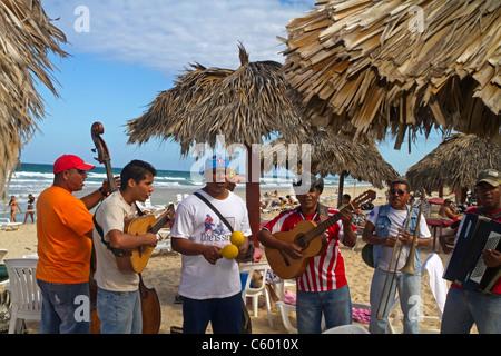 Son Musicians at Playa del Este , Santa Maria Del Mar, near Havanna Cuba - Stock Photo