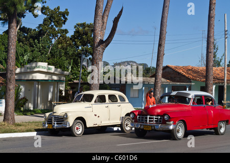 Oldtimer in Viñales Cuba, Province Pinar del Rio, - Stock Photo