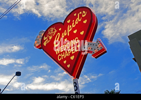 Wedding Chapel Cupids Las Vegas NV Nevada - Stock Photo