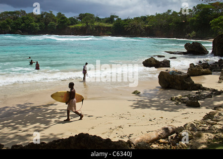 Boston Bay in Port Antonio, Jamaica - Stock Photo
