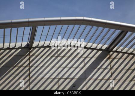 Architectural detail, Darwin Convention Centre, Darwin Waterfront Precinct, Darwin, Northern Territory, Australia - Stock Photo