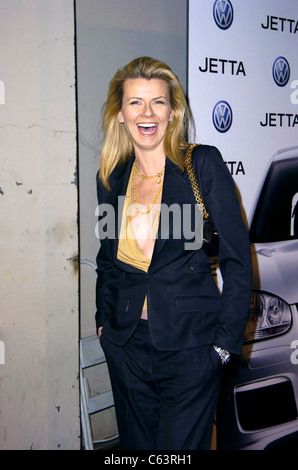 Actress Pamela Day poses for photographers, at the launch of the 2005 Volkswagen Jetta at The Lot, Los Angeles, - Stock Photo