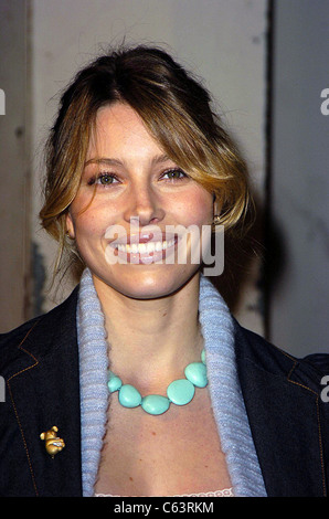 Jessica Biel poses for photographers, at the launch of the 2005 Volkswagen Jetta at The Lot, Los Angeles, CA  January - Stock Photo