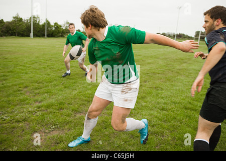 Rugby game in action - Stock Photo