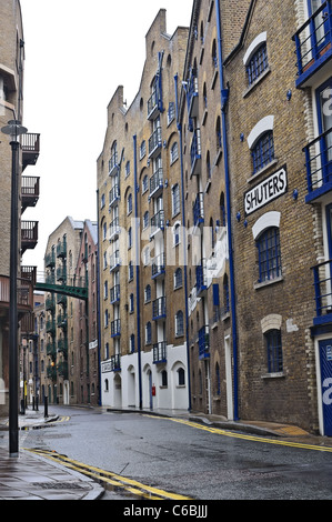 Shad Thames is an historic riverside street in London - Stock Photo