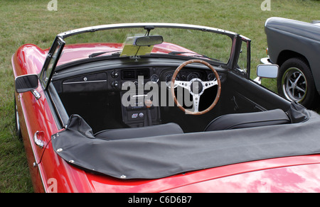 cockpit of a mg classic car stock photo royalty free image 24105059 alamy. Black Bedroom Furniture Sets. Home Design Ideas
