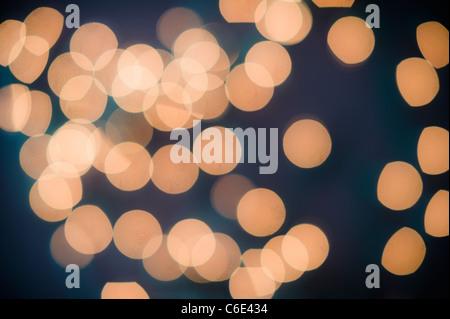 Close up of defocused lights - Stock Photo
