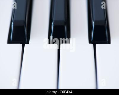 Close up of piano keys - Stockfoto