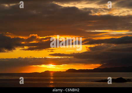 Sunset, Point of Sleat, Isle of Skye, Inner Hebrides, Scotland, - Stock Photo
