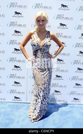 Holly Madison All-American Holly Madison hosts Wet Republic on 4th of July at MGM Grand Resort Casino Las Vegas, - Stock Photo