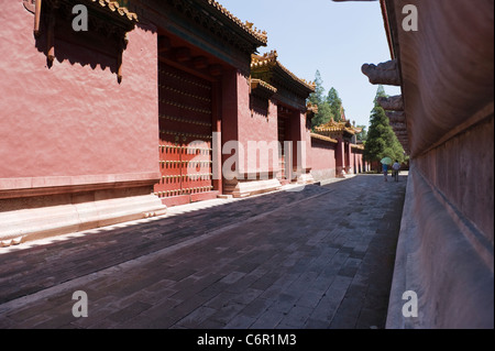 Forbidden City red walls - Stockfoto