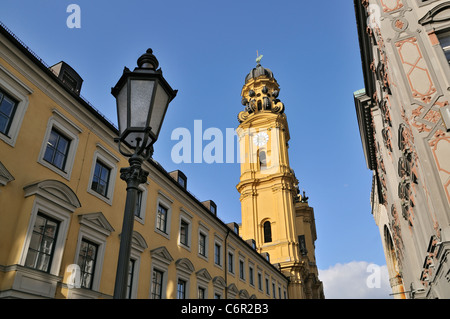 St. Kajetan church (Theatinerkirche), Munich, Bavaria, Germany - Stock Photo