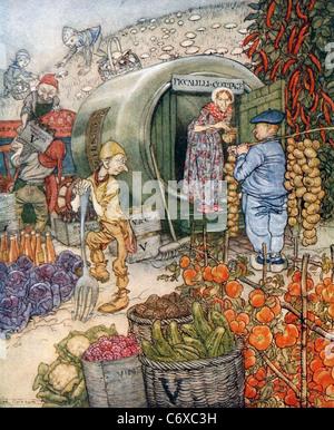 ARTHUR RACKHAM (1867-1939) English illustrator - frontispiece to English Fairy Tales published in 1922 - Stock Photo