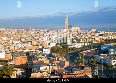Hassan II Mosque, the third largest mosque in the world, Casablanca, Morocco, North Africa - Stock Photo