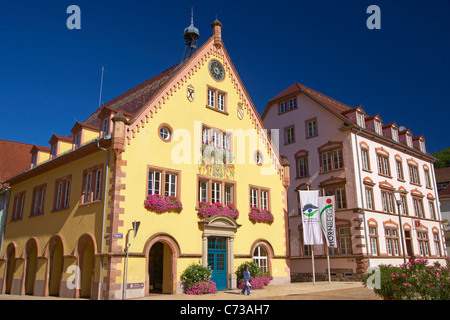 Town hall at the town of Hornberg, Southern Part of Black Forest, Black Forest, Baden-Wuerttemberg, Germany, Europe - Stock Photo