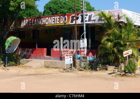 Local Bar, Povoado de São Jorge, Goiás, Brazil, South America - Stock Photo