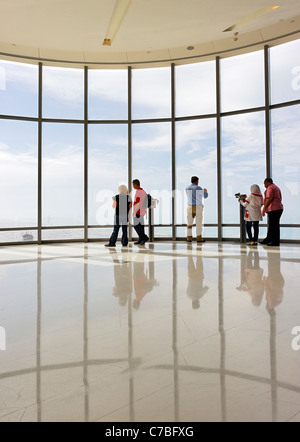 The highest observation deck in the world, AT THE TOP,  BURJ KHALIFA, the tallest tower in the world, Dubai, United - Stockfoto