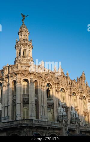 Exterior of Gran Teatro de La Habana theatre, City of Havana, Havana, Cuba - Stock Photo