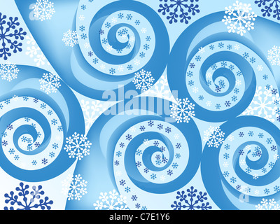 snowflake spiral abstract. holiday backgrounds. vector - Stockfoto
