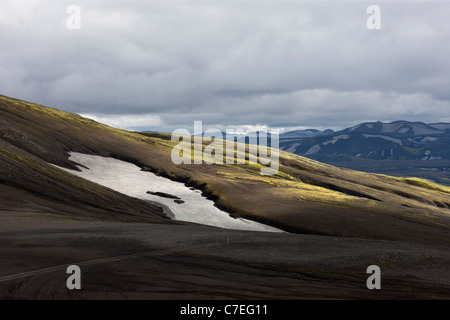 Mountains scenery at Landmannaleid, Iceland - - Stock Photo