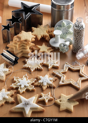 Christmas cookies biscuits - Stock Photo