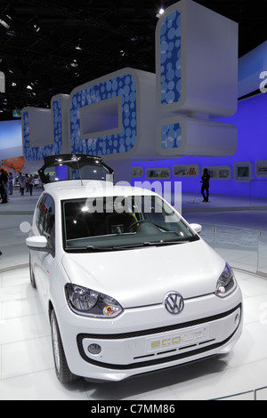The New VW UP at the 64th IAA (Internationale Automobil Ausstellung) on September 24, 2011 in Frankfurt - Stock Photo