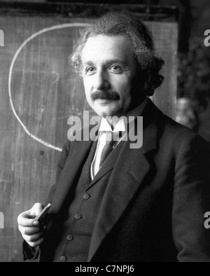 ALBERT EINSTEIN (1879-1955) German theoretical physicist in 1921 - Stock Photo