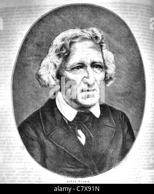 JACOB GRIMM (1785-1863) German philologist and with his brother Wilhelm the author of  Grimms Fairy Tales - Stock Photo
