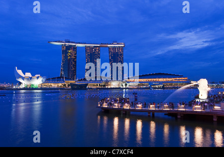 Marina Bay, Singapore - Stock Photo