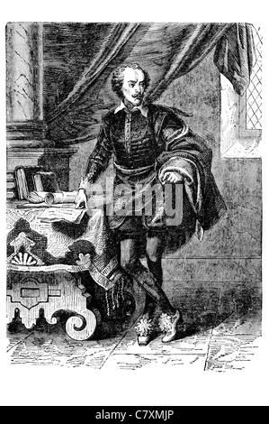William Shakespeare 1564 1616 English poet playwright greatest writer English language - Stock Photo