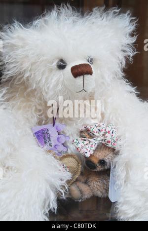 fluffy white bear - Stock Photo