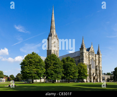 Salisbury Cathedral, The Close, Salisbury, Wiltshire, England, UK - Stock Photo