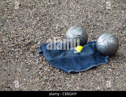 Petanque balls - Stock Photo