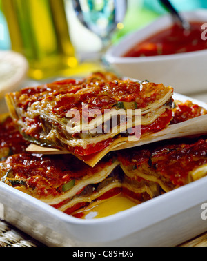 Vegetable lasagnes - Stock Photo