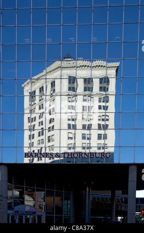 Grand Rapids, Michigan - Old and new buildings in downtown Grand Rapids. - Stock Photo