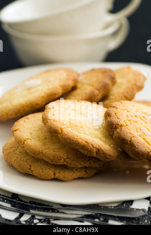 Teatime shortbread biscuits - Stock Photo