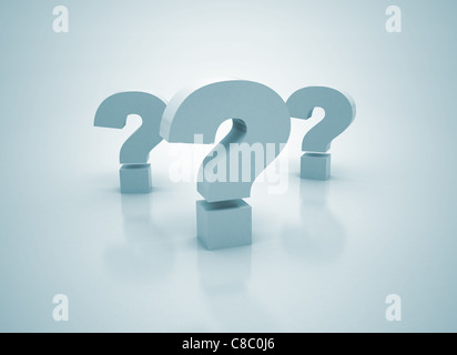 three question center focus - Stock Photo